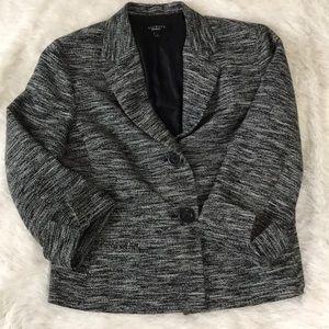 Talbots Black And White Blazer Jacket 12
